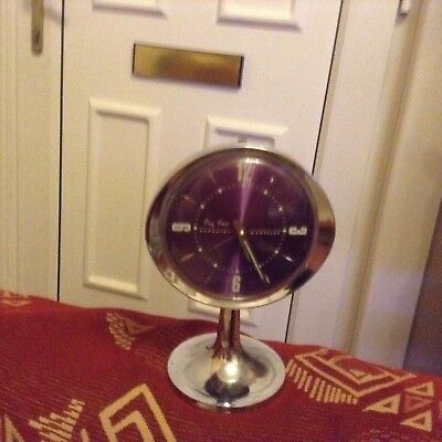 An Iconic Vintage Big Ben Repeater Alarm Clock In Good Working Order PURPLE.Col