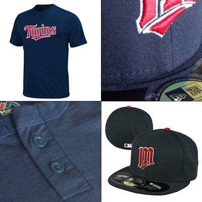 Officially Licenced Minnesota Twins 2 Button MLB T-shirt + New Era 5950 Cap