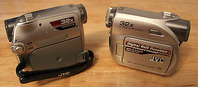 2 Jvc Cameras With Issues For Parts Or Repair Gr-D375U & Gr-D370U Dv Camcorders