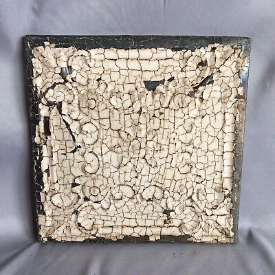 "11"" x 11 Antique Tin Ceiling Tile Wrapped Frame Anniversary  Malt 712-17"
