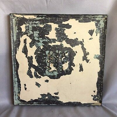 "11"" x 11 Antique Tin Ceiling Tile Wrapped Frame Anniversary Ivory 713-17"