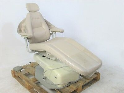 "Marus DC1680 Dental Patient Exam Chair w/ Tan Upholstery & 22""-32"" Height"