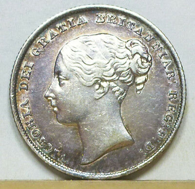 Great Britain Shilling 1840 EF/Almost Uncirculated