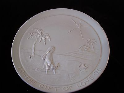 Vintage 1976 Frankoma THE GIFT OF LOVE Plate USA Signed Christmas Holiday
