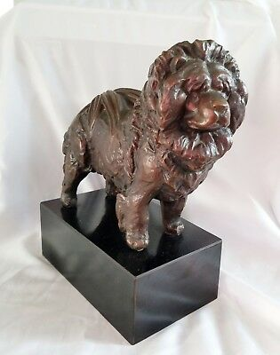 Real Bronze Chow Chow Dog  By Vivian Shyrock c.1980