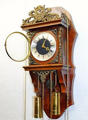 *Old Wall Clock Dutch Zaandam Zaanse wall Clock  particular pieces *