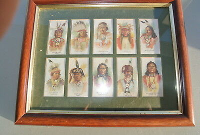 original picture wood native american cigarette card pictures of indian chiefs