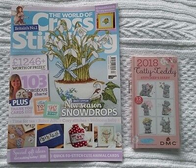 *latest Issue* The World Of Cross Stitching Magazine Issue 263 & Free Gift! ***