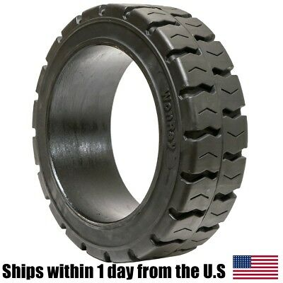 16X6X10.5 16x6-10.5 Solid Flat Proof Press-On Traction Forklift Tire 16610