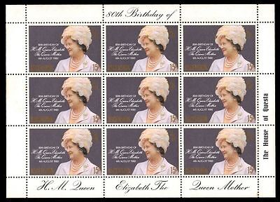 """ASCENSION 261ms (SG269) - Queen Mother Birthday """"Miniature Sheet"""" (pa69467)"""