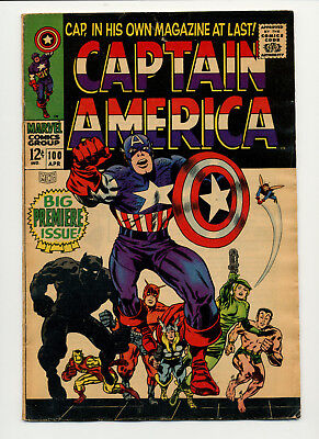 1967 Marvel Captain America 100 1St Monthly Solo Issue Of Silver Age