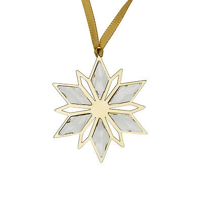 Swarovski Golden Star 5064267 Clear Crystal Holiday Ornament