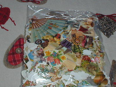A Bag Of Die Cut Embossed Scrap Book Pictures Scraps For Decoupage Art Projects