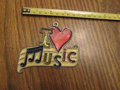 I Love Music Suncatcher Sun Catcher Stained Glass-style window hanging #2