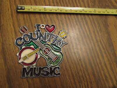 I Love Country Music Suncatcher Sun Catcher Stained Glass-style window hanging