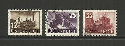 Austria Osterreich ~ 1937 Railway Centenary (Used Set)