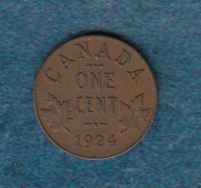 1924 Canada One Cent, better date  inv#9541