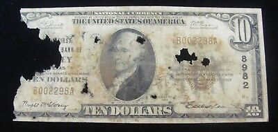 1929 $10 National Currency Note Bank Of Olney Texas 8982