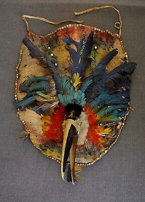 MUSEUM PIECE AMAZON RAINFOREST JIVARO ECUADOR SHAMAN BREASTPLATE MID 20th C