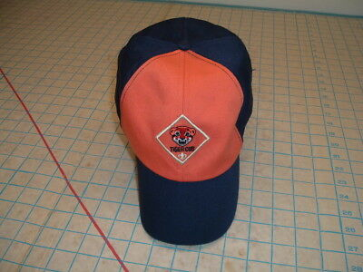 BSA BOY TIGER CUB Scout Hat BLUE ORANGE twill MED-large Cap Scouts OF AMERICA