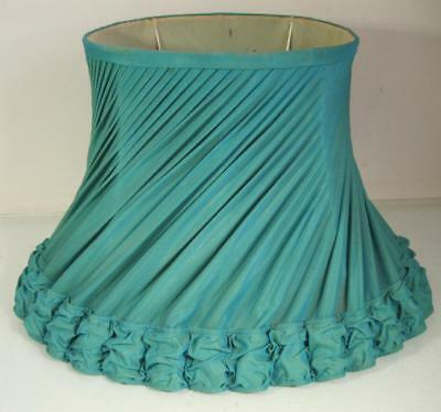 Vintage/retro 60s turquoise green fabric standard floor lamp shade-large
