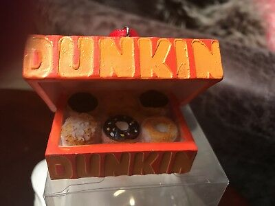 "Dunkin Donuts Ornament,  ""box Of Donuts"" - Brand New - In Clear Pkg."