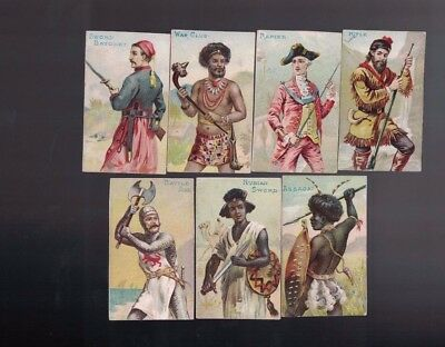 1887 N3 Arms of Nations Allen & Ginter Tobacco Cards Lot of 7 TRIMMED