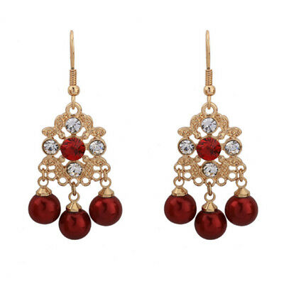 Fashion Vintage Bridal Women Wedding Party Dangle Earrings Jewelry Accessories