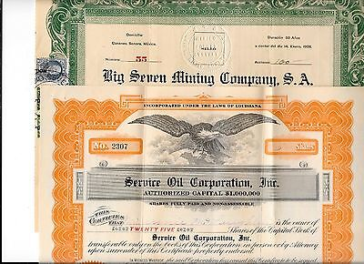 STOCK CERTIFICATES (OIL/MINING,etc)-About all SW U.S. (36)