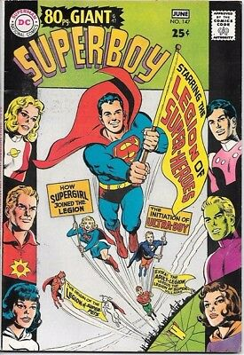 Superboy Comic Book #147 DC Comics 1968 FINE+/VERY FINE- 80 pg. Giant #47