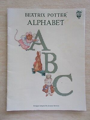 Beatrix Potter Alphabet~Cross Stitch Charts~1981~Green Apple #593