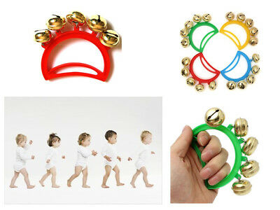 Kids Cute Hand Bell Jingle Percussion Musical Instrument Baby Child Toddler Gift