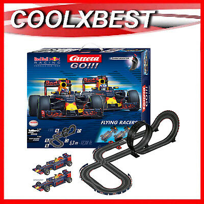Carrera Go Red Bull F1 Flying Racers Slot Car Set Ricciardo Verstappen 5.3M