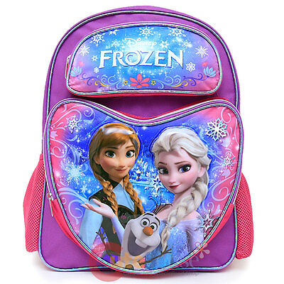 b99adbc6177 Disney Frozen Large School Backpack Elsa Anna Olaf 16