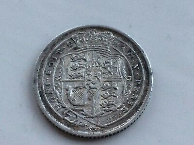 smart looking GIII George III 1816 silver sixpence coin in good condition