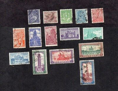 India.1949.pictorial Definitive Set To 10 Rupees.used.(Fault On 5R Stamp).