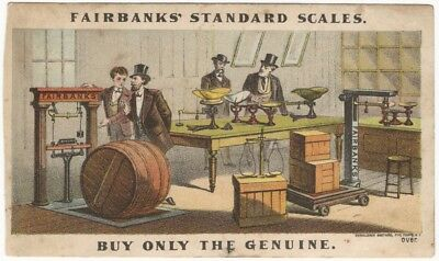 1880s Fairbanks Standard Scales Scale Shop Victorian Trade Card