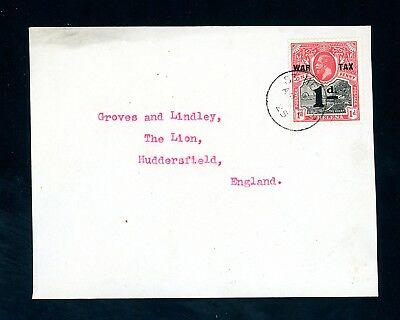 St Helena  1925  Cover Front  to England with 1d  War Tax Issue  (D861)