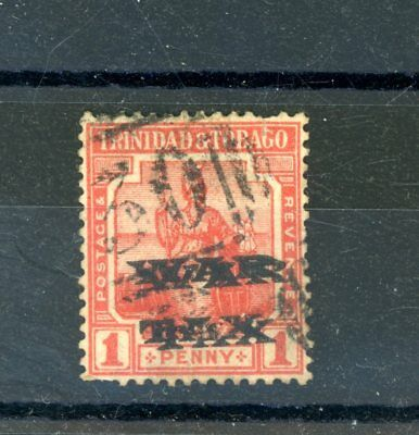 Trinidad and Tobago  1918  1d War Tax (SG 186A)  opt. Double used   (D872)