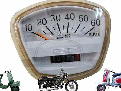 Lambretta Sx Tv Speedometer  60 Mph Veglia Italian Threaded  @aus