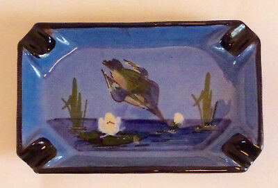 Vintage -Watcombe Pottery-Torquay-Diving Kingfisher-Ash Tray.
