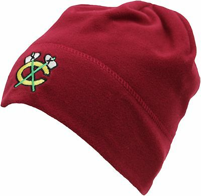 Mitchell & Ness Chicago Blackhawks Fleece Beanie Hat - Red