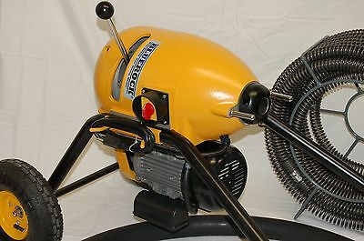 """BLUEROCK ® Tools SDS200 2"""" - 8"""" Sectional Pipe Drain Cleaning Machine Snake"""