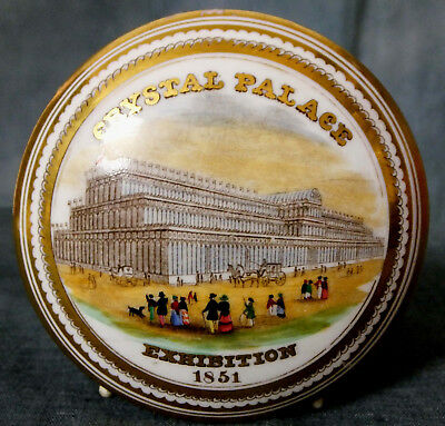 VERY UNUSUAL & RARE 19th. CENTURY  POT LID - CRYSTAL PALACE EXHIBITION, 1851