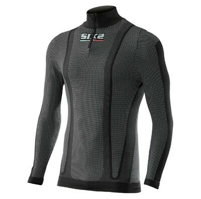 SixS TS13W Warm Mens Long Sleeve Zip Under Shirt Black Carbon MD