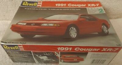 Vintage Model Kits--1991 Cougar Xr-7--Revell Kit--Sealed--N.i.b.--1/25Th Scale