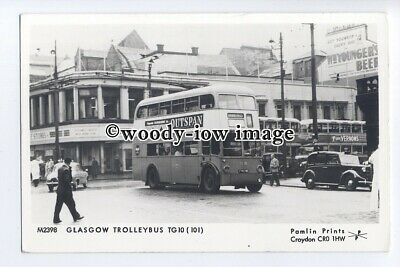 pp2281 - Glasgow Trolley Bus TG10 (101) at Bus Station - Pamlin postcard