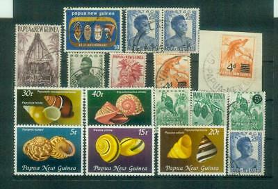 Lot Briefmarken aus Papua-Neuguinea