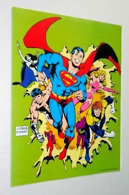 Original 1979 DC Comics Superboy/Legion of Super-Heroes comic book poster: 1970s