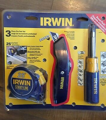 Brand New IRWIN 3 Piece Pro-Tool Set